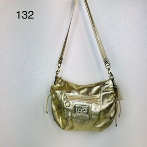 Coach Poppy Jazzy Gold Hobo Crossbody/Shoulder